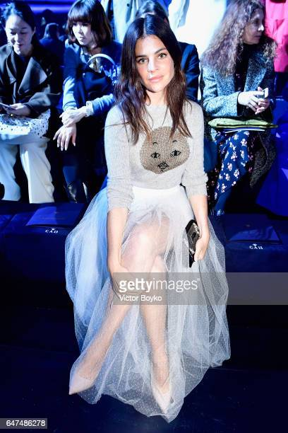 Julia Restoin Roitfeld attends the Christian Dior show as part of the Paris Fashion Week Womenswear Fall/Winter 2017/2018 on March 3 2017 in Paris...