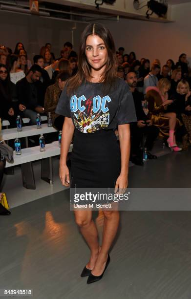Julia Restoin Roitfeld attends the David Koma SS18 catwalk show during London Fashion Week September 2017 at The National Theatre on September 18...