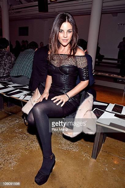 Julia Restoin Roitfeld attends the Kevork Kiledjian Fall 2011 fashion show during MercedesBenz Fashion Week at Milk Studios on February 14 2011 in...