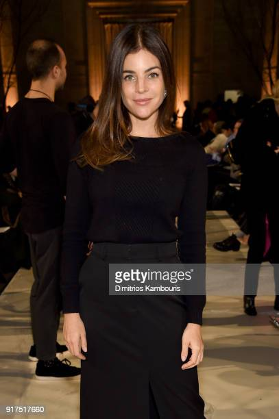 Julia Restoin Roitfeld attends the Oscar De La Renta fashion show during New York Fashion Week The Shows at The Cunard Building on February 12 2018...