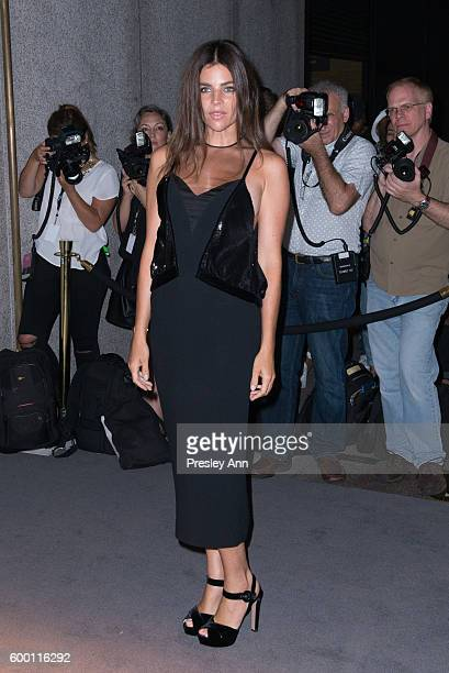 Julia Restoin Roitfeld attends Tom Ford fashion show during New York Fashion Week at 99 East 52nd Street on September 7 2016 in New York City