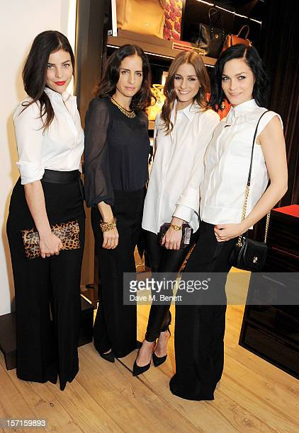 Julia Restoin Roitfeld Carolina Herrera Baez Olivia Palermo and Leigh Lezark attend the launch of CH Carolina Herrera's White Shirt Collection at...