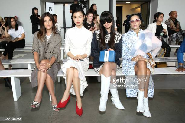Julia Restoin Roitfeld Estelle Chen Leaf Greener and Sita Abellan attend the Calvin Luo front Row during New York Fashion Week The Shows at Gallery I...