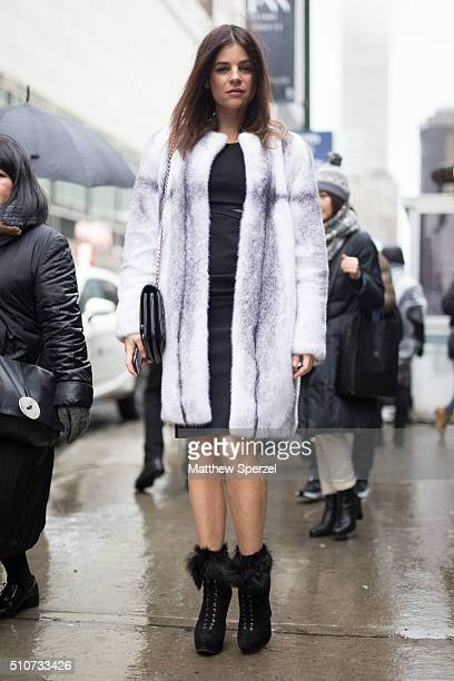 Julia Restoin Roitfeld is seen at the Vera Wang Collection show during New York Fashion Week Women's Fall/Winter 2016 on February 16 2016 in New York...
