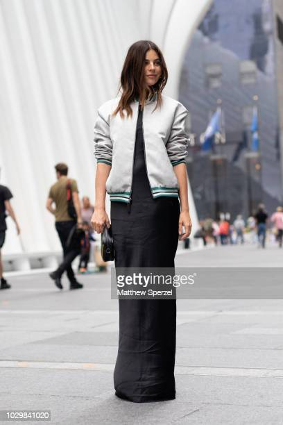Julia Restoin Roitfeld is seen on the street during New York Fashion Week SS19 wearing Lonchamp on September 8 2018 in New York City