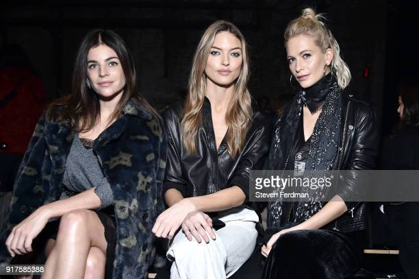 Julia Restoin Roitfeld Martha Hunt and Poppy Delevingne attend the Zadig Voltaire fashion show during New York Fashion Week at Cedar Lake Studios on...