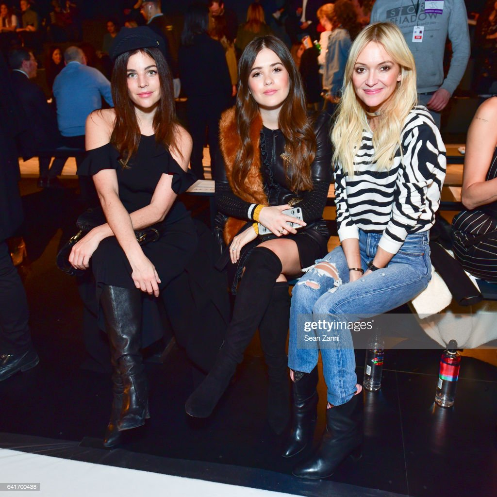 Julia Restoin Roitfeld, Paola Alberdi and Zanna Roberts Rassi attend the Jonathan Simkhai show during New York Fashion Week at Skylight Clarkson Sq on February 11, 2017 in New York City.