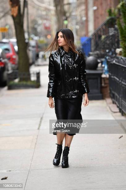 Julia Restoin Roitfeld wearing Fay AW18 whilst out on January 10, 2019 in New York City.