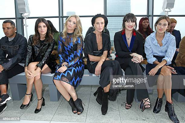 Julia Restoin Roitfield Annabelle Wallis Audrey Marnay Daisy Lowe and Alexa Chung attend the Christopher Kane show during London Fashion Week...