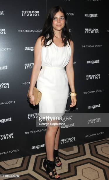 Julia RestoinRoitfeld attends a screening of 'August' hosted by The Cinema Society and First Look Studios at the Tribeca Grand Screening Room on July...