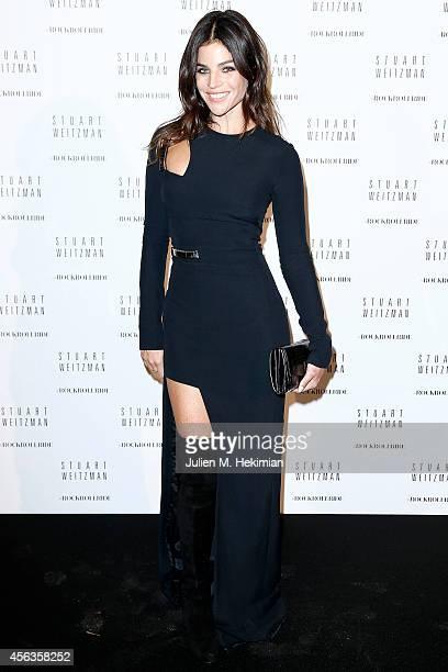 Julia RestoinRoitfeld attends Stuart Weitzman Cocktail Party For #Rockrollride short film premiere at Hotel Salomon de Rothschild on September 29...
