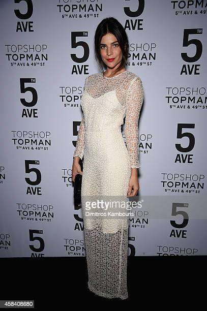 Julia RestoinRoitfeld attends the Topshop Topman New York City flagship opening dinner at Grand Central Terminal on November 4 2014 in New York City