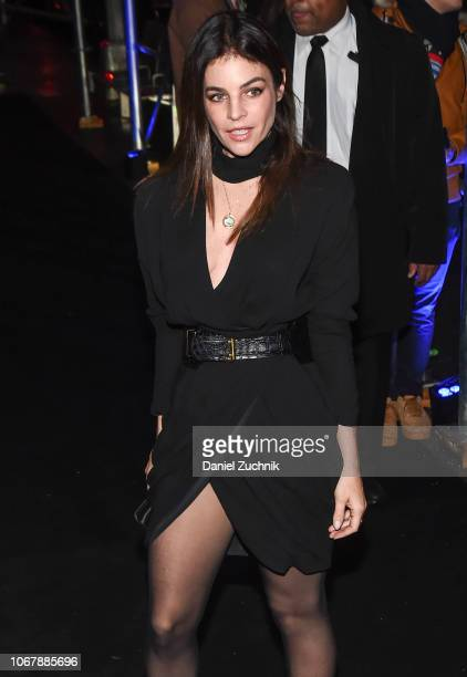 Julia RestoinRoitfeld is seen wearing a Versace dress outside the Versace PreFall 2019 Collection on December 2 2018 in New York City