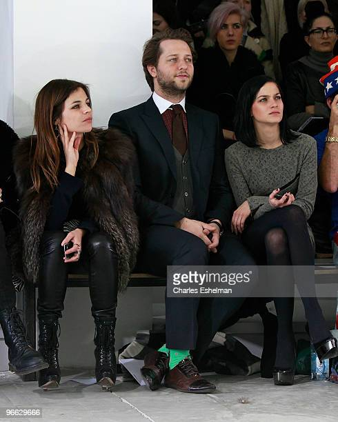 Julia RestoinRoitfeld 'V' magazine editor Derek Blasberg and DJ/model Leigh Lezark attend the Preen by Thornton Bregazzi Fall 2010 fashion show...