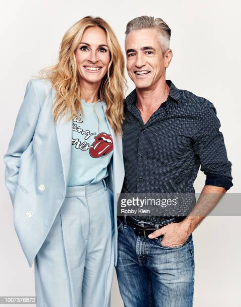Julia Roberts and Dermot Mulroney of Amazon's 'Homecoming' pose for a portrait during the 2018 Summer Television Critics Association Press Tour at...