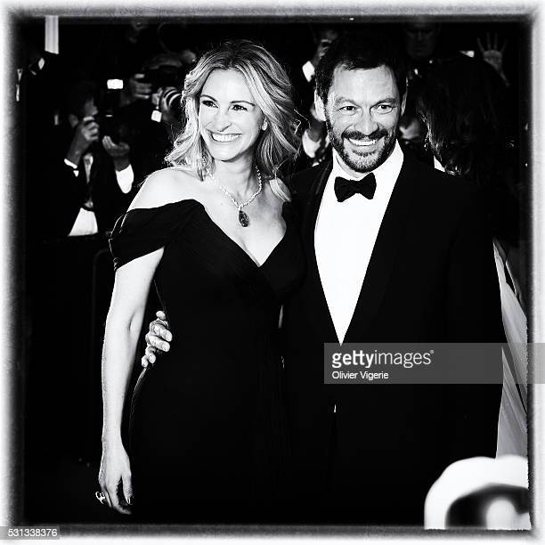 Julia Roberts and Dominic West attend the 'Money Monster' Premiere during the 69th annual Cannes Film Festival on May 12 2016 in Cannes France