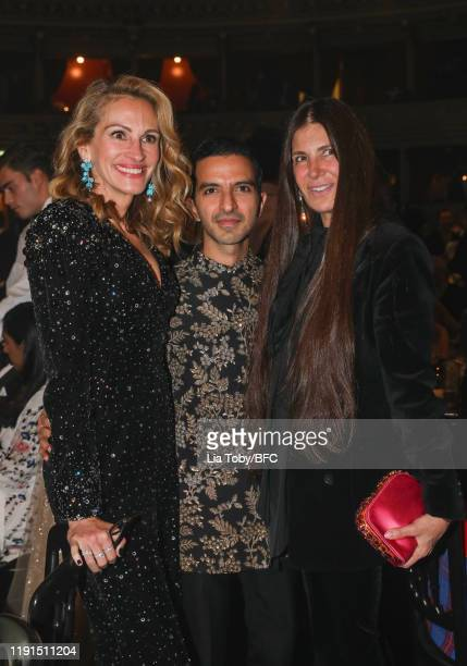 Julia Roberts and Imran Amed attend the VIP dinner at The Fashion Awards 2019 held at Royal Albert Hall on December 02, 2019 in London, England.