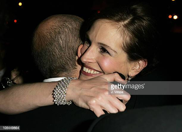 Julia Roberts and Jeffrey Katzenberg during The 77th Annual Academy Awards Governors Ball at Kodak Theatre in Hollywood California United States