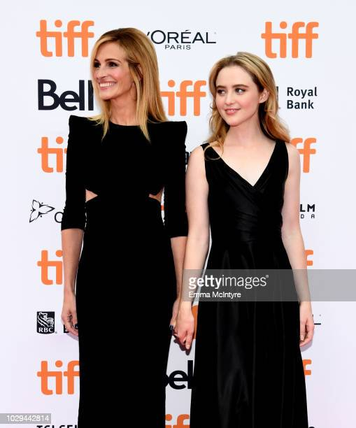 Julia Roberts and Kathryn Newton attend the Ben Is Back premiere during 2018 Toronto International Film Festival at Princess of Wales Theatre on...