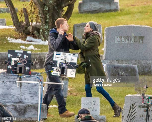 Julia Roberts and Lucas Hedges are seen filming 'Ben Is Back' on December 19 2017 in New York New York