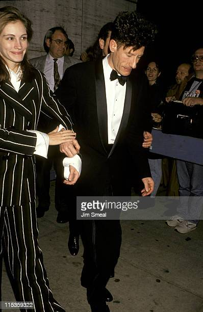 Julia Roberts and Lyle Lovett during Opening Night of The 31st Annual New York Film Festival at Avery Fisher Hall Lincoln Center in New York City New...