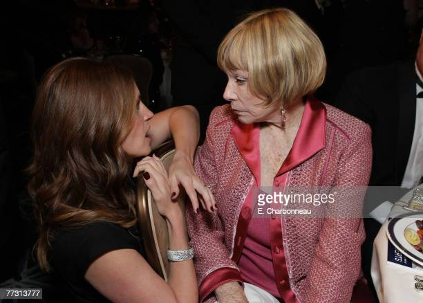 Julia Roberts and Shirley MacLaine at The 22nd Annual American Cinematheque Award at the Beverly Hilton Hotel on October 12 2007 in Beverly Hills...