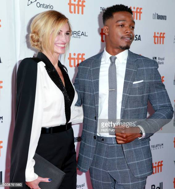 Julia Roberts and Stephan James attend the Homecoming premiere during 2018 Toronto International Film Festival at Ryerson Theatre on September 7 2018...