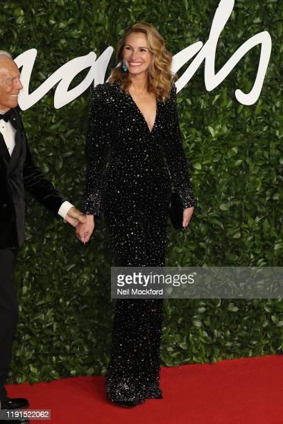 Julia Roberts arrives at The Fashion Awards 2019 held at Royal Albert Hall on December 02 2019 in London England