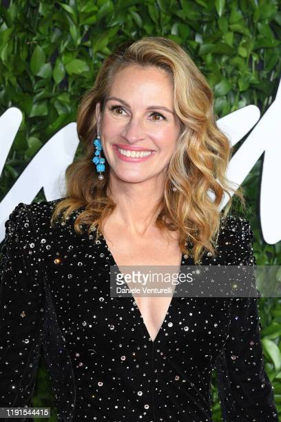 Julia Roberts arrives at The Fashion Awards 2019 held at Royal Albert Hall on December 02 2019 in London England