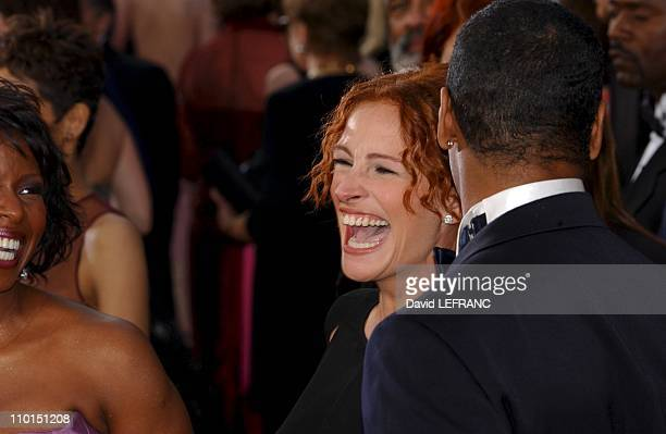 Julia Roberts at the Seventy Fourth Annual Academy Awards in Los Angeles United States on March 24 2002 For the first time this year the Oscar show...