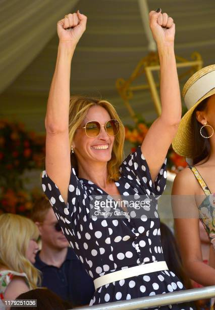 Julia Roberts attends the 10th Annual Veuve Clicquot Polo Classic Los Angeles at Will Rogers State Historic Park on October 05, 2019 in Pacific...