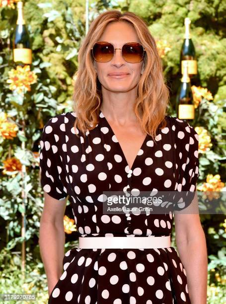 Julia Roberts attends the 10th Annual Veuve Clicquot Polo Classic Los Angeles at Will Rogers State Historic Park on October 05 2019 in Pacific...