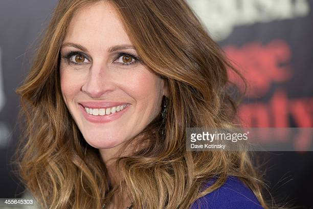 "Julia Roberts attends the ""August: Osage County"" premiere at Ziegfeld Theater on December 12, 2013 in New York City."