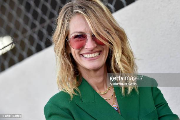 Julia Roberts attends the ceremony honoring Rita Wilson with Star on the Hollywood Walk of Fame on March 29, 2019 in Hollywood, California.
