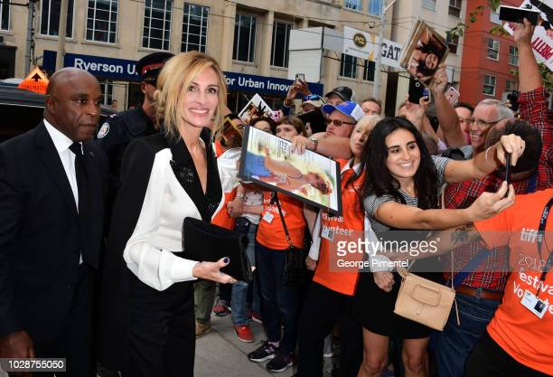 Julia Roberts attends the Homecoming premiere during 2018 Toronto International Film Festival at Ryerson Theatre on September 7 2018 in Toronto Canada