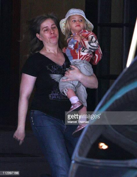 Julia Roberts' daughter Hazel Patricia during Julia Roberts Sighting in Midtown, Manhattan - April 29, 2007 at Midtown in New York City, New York,...