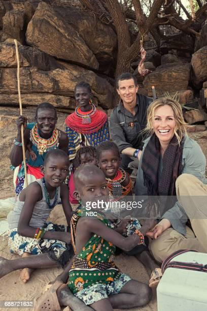 Julia Roberts on Running Wild With Bear Grylls -- Pictured: Bear Grylls, Julia Roberts --