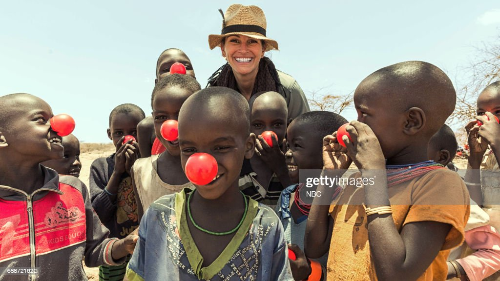 SPECIAL -- Julia Roberts on Running Wild With Bear Grylls -- Pictured: (center) Julia Roberts --