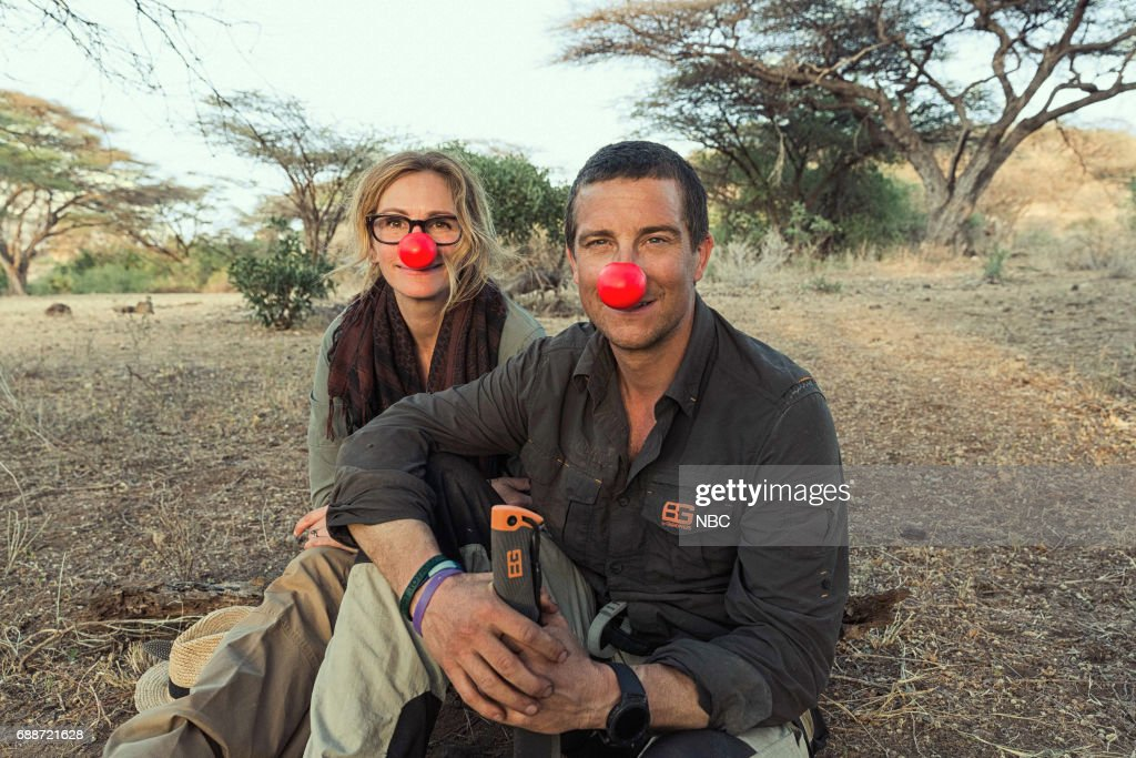 SPECIAL -- Julia Roberts on Running Wild With Bear Grylls -- Pictured: (l-r) Julia Roberts, Bear Grylls --