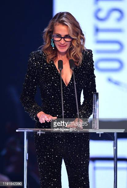 Julia Roberts on stage during The Fashion Awards 2019 held at Royal Albert Hall on December 02 2019 in London England