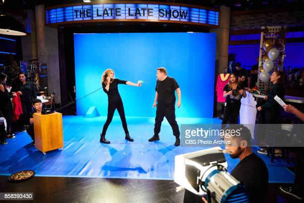 Julia Roberts performs in Role Call with James Corden during 'The Late Late Show with James Corden' Wednesday October 4 2017 On The CBS Television...
