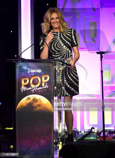 Julia Roberts speaks onstage during the 36th annual ASCAP Pop Music Awards at The Beverly Hilton Hotel on May 16 2019 in Beverly Hills California