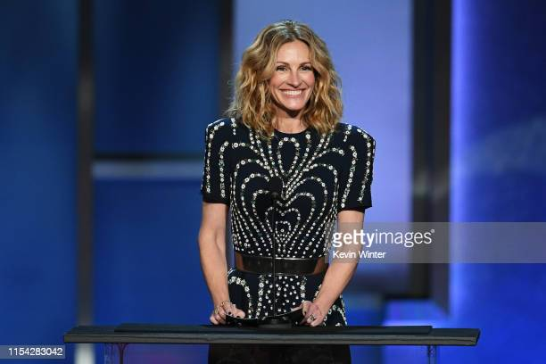 Julia Roberts speaks onstage during the 47th AFI Life Achievement Award honoring Denzel Washington at Dolby Theatre on June 06, 2019 in Hollywood,...