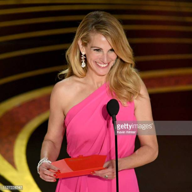 Julia Roberts speaks onstage during the 91st Annual Academy Awards at Dolby Theatre on February 24 2019 in Hollywood California