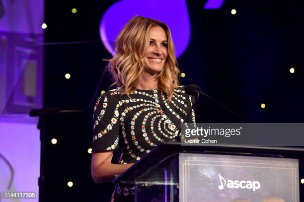 Julia Roberts speaks onstage during the ASCAP 2019 Pop Music Awards at The Beverly Hilton Hotel on May 16 2019 in Beverly Hills California
