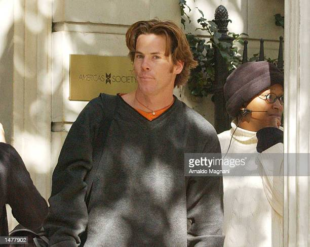 Julia Roberts's husband Danny Moder stands on the set of the upcoming film Mona Lisa Smile on October 15 2002 in New York City