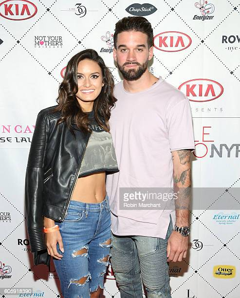 Julia Rose and Stephen John attend Kristin Cavallari Emerald DUV Jewelry Chinese Laundry Arrivals September 2016 Style360 at Row NYC on September 15...