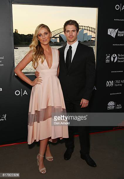 Julia Rose O'Connor and Kyle Prior arrive ahead of opening night of Handa Opera's Turandot on March 24 2016 in Sydney Australia