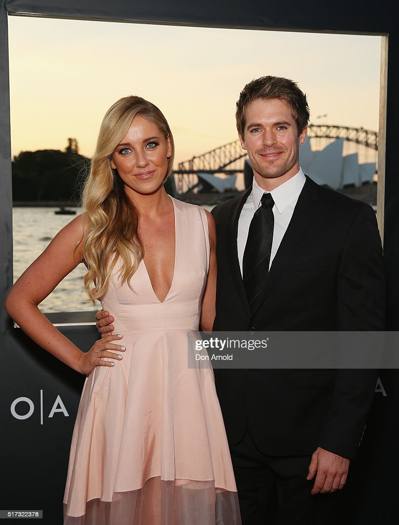 Julia Rose O'Connor and Kyle Prior arrive ahead of opening night of Handa Opera's Turandot on March 24, 2016 in Sydney, Australia.