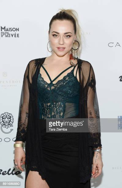 Julia Ross attends Bello Magazine's December Issue Launch Party with 'Modern Family' star Nolan Gould at Hills Penthouse on December 12 2017 in West...